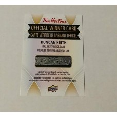 Duncan Keith 2016-17 Tim Hortons NHL Jersey Relic