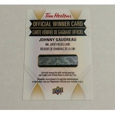 Johnny Gaudreau 2016-17 Tim Hortons NHL Game Jersey Relic
