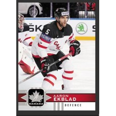108 Aaron Ekblad SP Base Short Prints 2017-18 Canadian Tire Upper Deck Team Canada