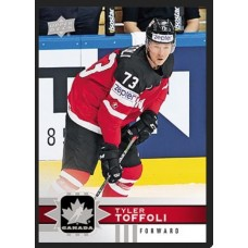 11 Tyler Toffoli Base Set 2017-18 Canadian Tire Upper Deck Team Canada