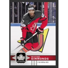 114 Wayne Simmonds SP Base Short Prints 2017-18 Canadian Tire Upper Deck Team Canada