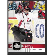 115 Carey Price SP Base Short Prints 2017-18 Canadian Tire Upper Deck Team Canada