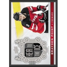 142 Brayden Point - Heir to the Ice 2017-18 Canadian Tire Upper Deck Team Canada