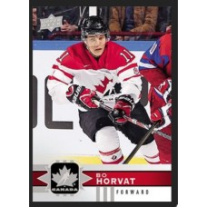 15 Bo Horvat Base Set 2017-18 Canadian Tire Upper Deck Team Canada