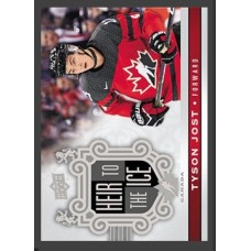 153 Tyson Jost - Heir to the Ice 2017-18 Canadian Tire Upper Deck Team Canada