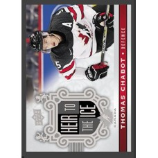 155 Thomas Chabot - Heir to the Ice 2017-18 Canadian Tire Upper Deck Team Canada