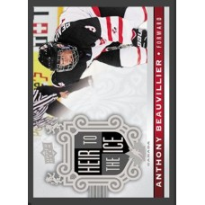 156 Anthony Beauvillier - Heir to the Ice 2017-18 Canadian Tire Upper Deck Team Canada