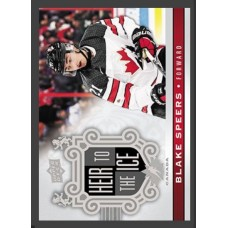 157 Blake Speers - Heir to the Ice 2017-18 Canadian Tire Upper Deck Team Canada