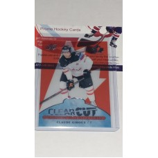 POE-16 Claude Giroux Clear Cut Program of Excellence 2017-18 Canadian Tire Upper Deck Team Canada