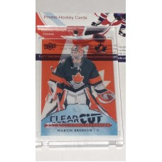 POE-22 Martin Brodeur Clear Cut Program of Excellence 2017-18 Canadian Tire Upper Deck Team Canada