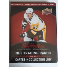 2017-18 UD Tim Hortons Base, TOP, GDA, SM, & PP Sets with Binder