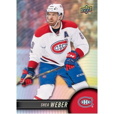 6 Shea Weber Base Set 2017-18 Tim Hortons UD Upper Deck