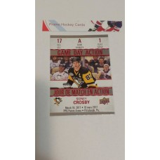 GDA-1 Sidney Crosby Game Day Action Insert Set 2017-18 Tim Hortons UD Upper Deck