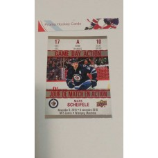 GDA-10 Mark Scheifele Game Day Action Insert Set 2017-18 Tim Hortons UD Upper Deck