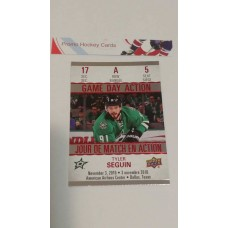 GDA-5 Tyler Seguin Game Day Action Insert Set 2017-18 Tim Hortons UD Upper Deck