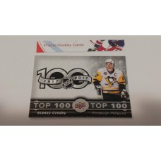 TOP-1 Sidney Crosby - Pittsburgh Penguins Top 100 Insert Set 2017-18 Tim Hortons UD Upper Deck