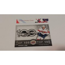 TOP-5 Jaromir Jagr - Florida Panthers Top 100 Insert Set 2017-18 Tim Hortons UD Upper Deck