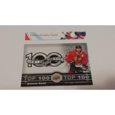 TOP-6 Duncan Keith - Chicago Blackhawks Top 100 Insert Set 2017-18 Tim Hortons UD Upper Deck