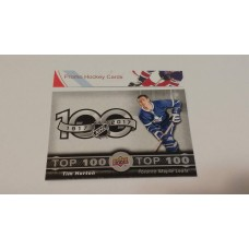 TOP-7 Tim Horton - Toronto Maple Leafs Top 100 Insert Set 2017-18 Tim Hortons UD Upper Deck