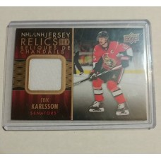 JR-EK Erik Karlsson NHL Jersey Relics Tim Hortons 2015-2016 Collector's Series Game Jersey Super Rare