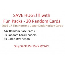 Fun Packs - 20 Random Cards - 2016-17 Tim Hortons Upper Deck Hockey Cards
