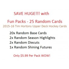 Fun Packs - 25 Random Cards - 2015-16 Tim Hortons Upper Deck Hockey Cards