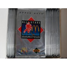 Unopened 1992-93 McDonald's Upper Deck Hockey Packs