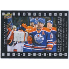 SH-2 Jordan Eberle Season Highlights Checklist Insert Set Tim Hortons 2015-2016 Collector's Series