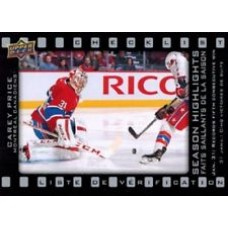 SH-3 Carey Price Season Highlights Checklist Insert Set Tim Hortons 2015-2016 Collector's Series