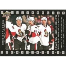 SH-4 Erik Karlsson Season Highlights Checklist Insert Set Tim Hortons 2015-2016 Collector's Series