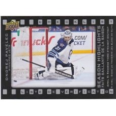 SH-7 Ondrej Pavelec Season Highlights Checklist Insert Set Tim Hortons 2015-2016 Collector's Series