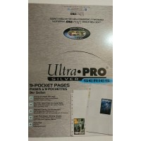 Ultra Pro - 500 Pages of Silver Series 9 Pockets Binder Sheets (5 Boxes of 100)