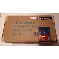 Ultra Pro - 40 Packs of 25 - Regular 3x4 Top Loaders = 1000 Case