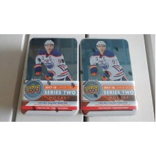 Lot of 2 2017-18 Upper Deck UD Series 2 Tins