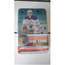 2017-18 Upper Deck UD Series 2 Tin (12 packs & oversized card)