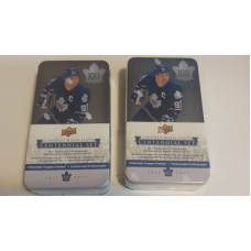 Lot of 2 2017-18 Upper Deck UD Toronto Maple Leafs Centennial Tins