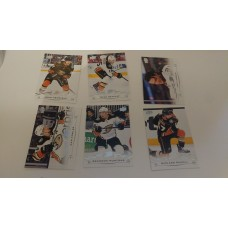 2018-19 Upper Deck Series 1 Base Team Set 1-6 Anaheim Ducks