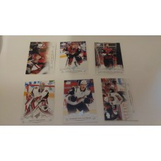 2018-19 Upper Deck Series 1 Base Team Set 7-12 Arizona Coyotes