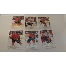 2018-19 Upper Deck Series 1 Base Team Set 26-31 Calgary Flames