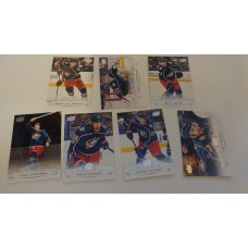 2018-19 Upper Deck Series 1 Base Team Set 51-57 Columbus Blue Jackets