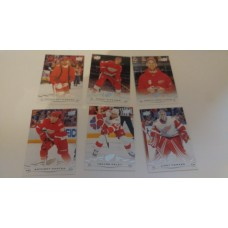 2018-19 Upper Deck Series 1 Base Team Set 64-69 Detroit Red Wings