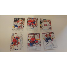 2018-19 Upper Deck Series 1 Base Team Set 95-100 Montreal Canadiens