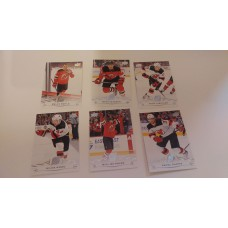2018-19 Upper Deck Series 1 Base Team Set 108-113 New Jersey Devils