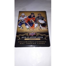 2018-19 Upper Deck Series 1 One Binder 14x 9page sheets inside
