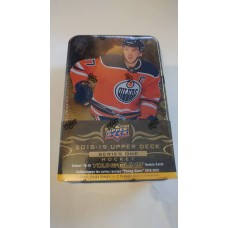 2018-19 Upper Deck UD Series 1 Tin (12 packs & oversized card)