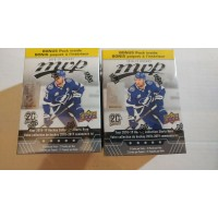 Lot of 2 2018-19 Upper Deck UD MVP Blaster Boxes  (42 packs of 5 cards total)