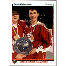 Scott Niedermayer RC 1990-91 Upper Deck Hockey #461 Rookie Card Team Canada