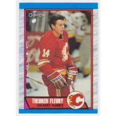Theoren Fleury RC 1989-90 OPC o-pee-chee #232 89/90 89-90 Flames Rookie Card